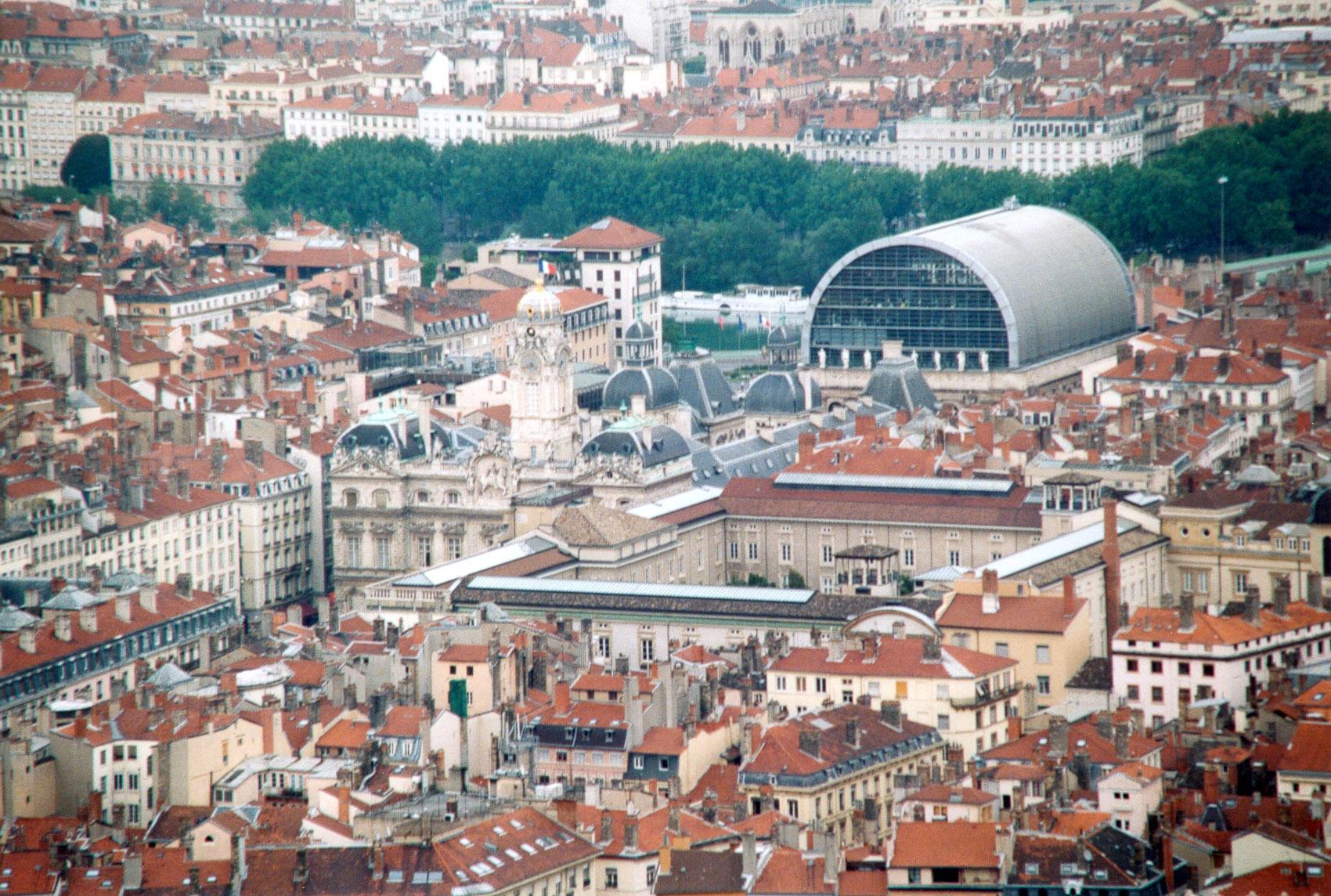 Vue sur le 1er arrondissement de Lyon