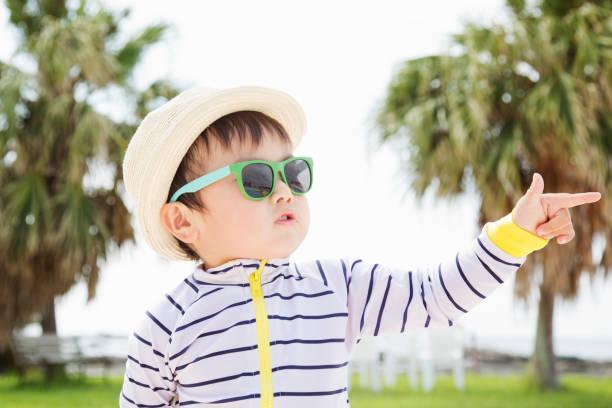 Enfant avec un chapeau et des lunettes de soleil