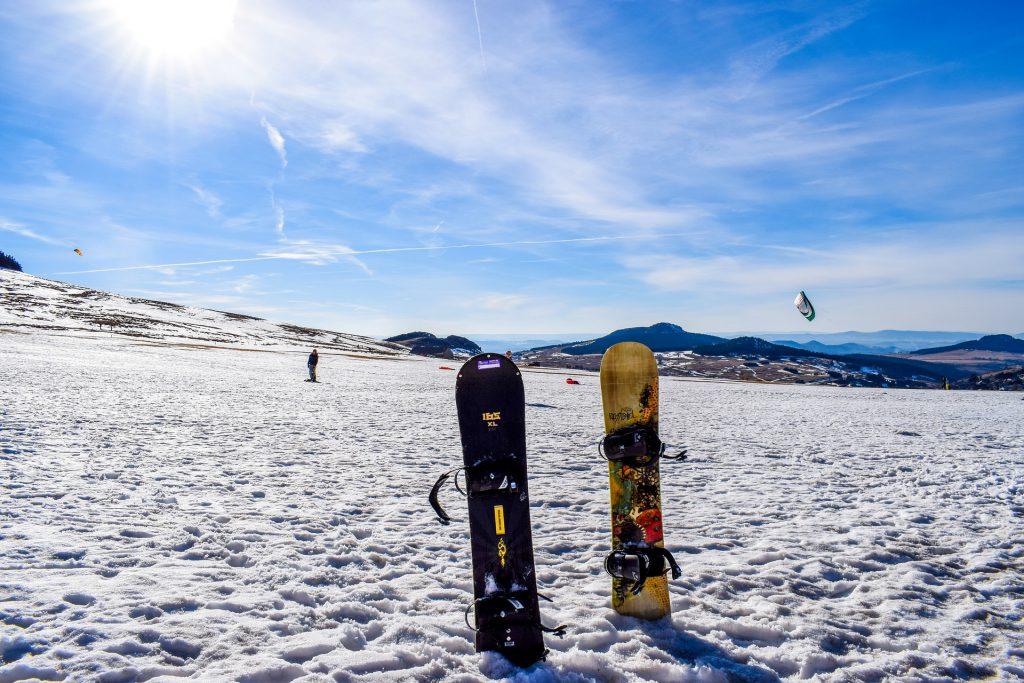 Snowboard en hiver