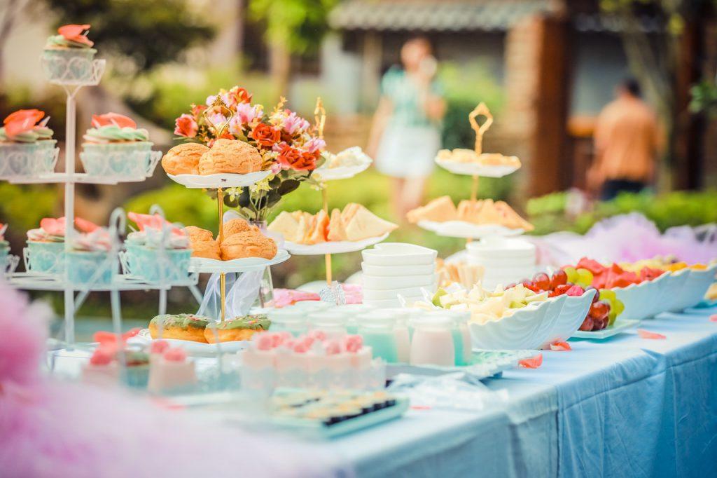buffet de goputer d'anniversaire